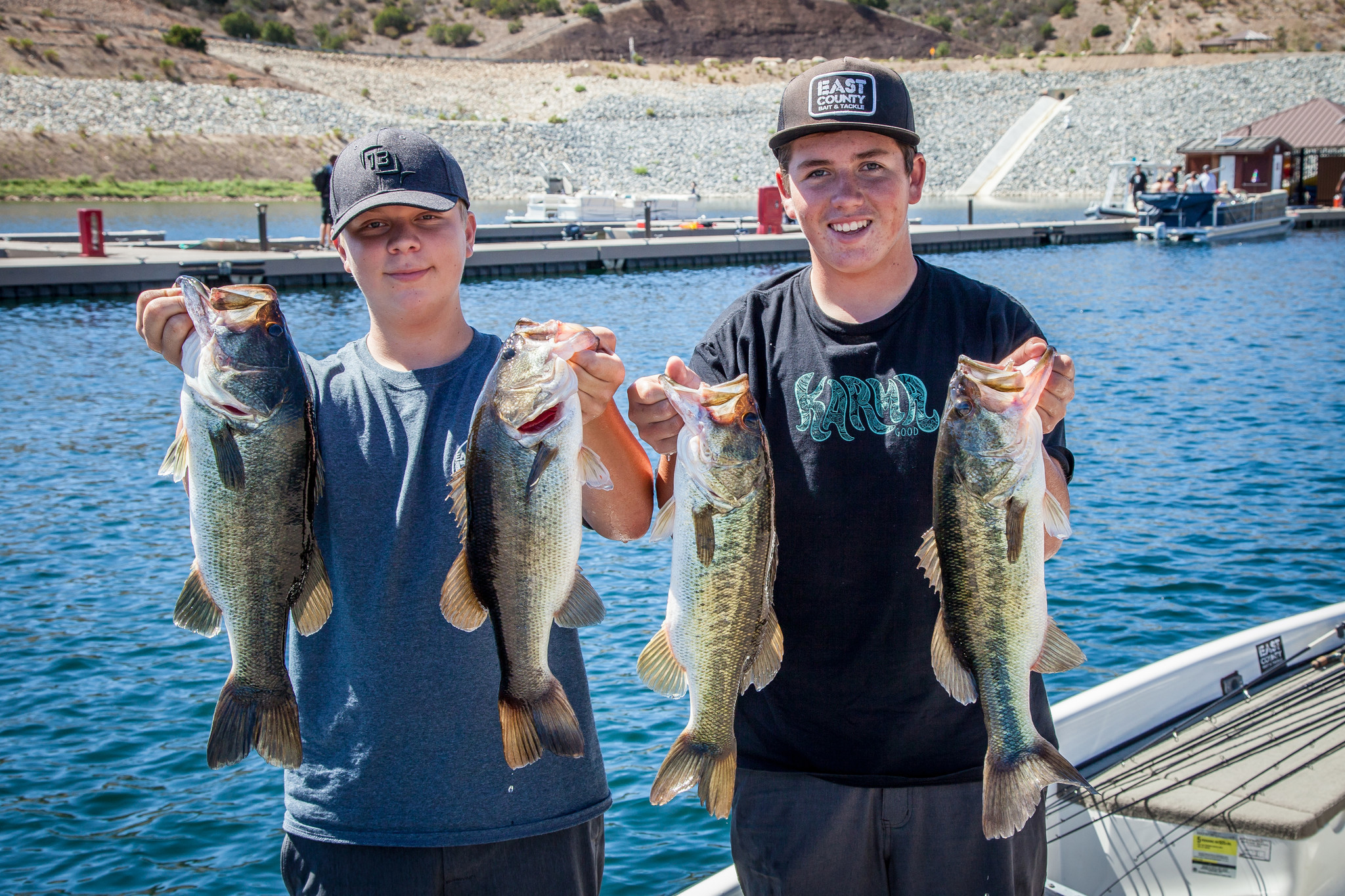 San vicente reopens to great bass fishing the san diego for Bass fishing san diego