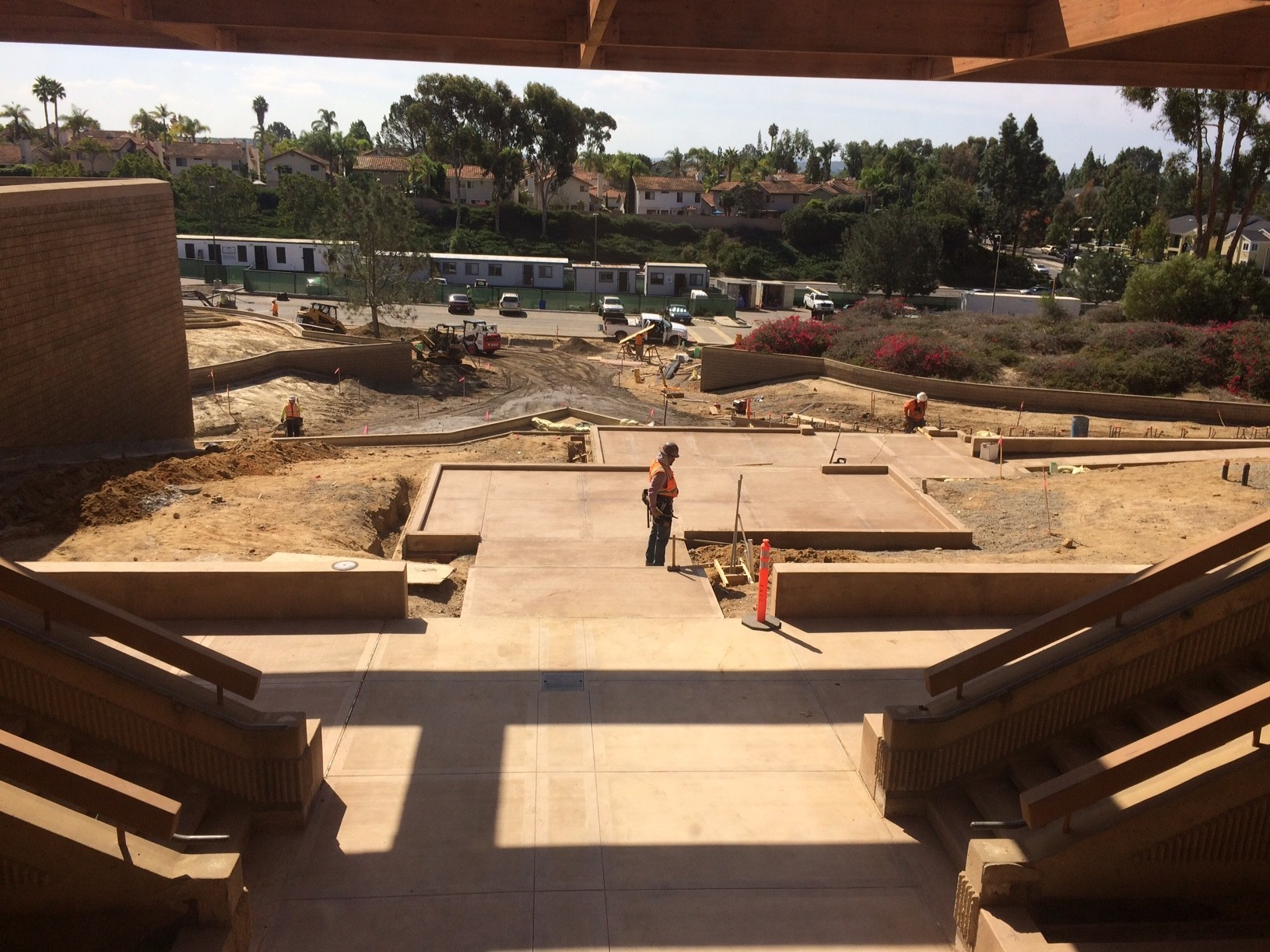 The new Torrey Pines entrance under construction