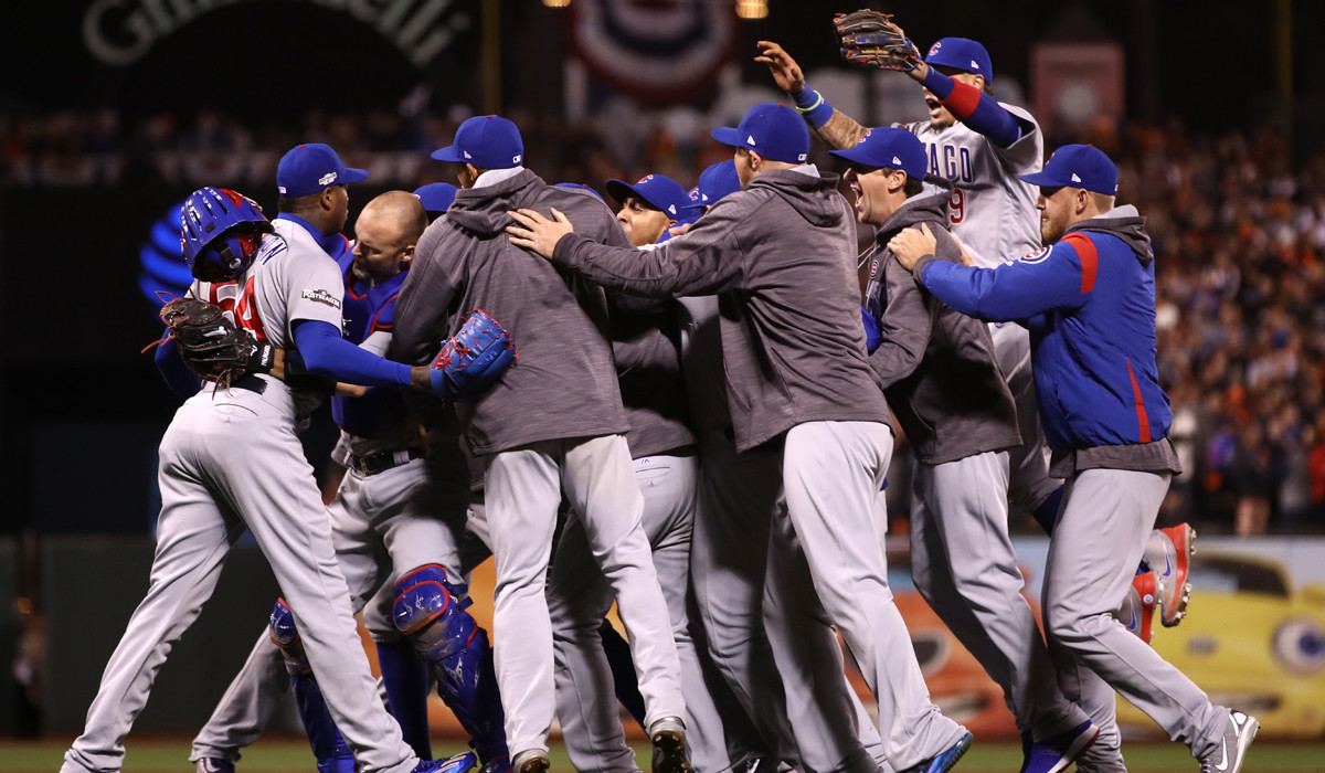 That sight, so rare in our lifetimes, of seeing the Cubs celebrate