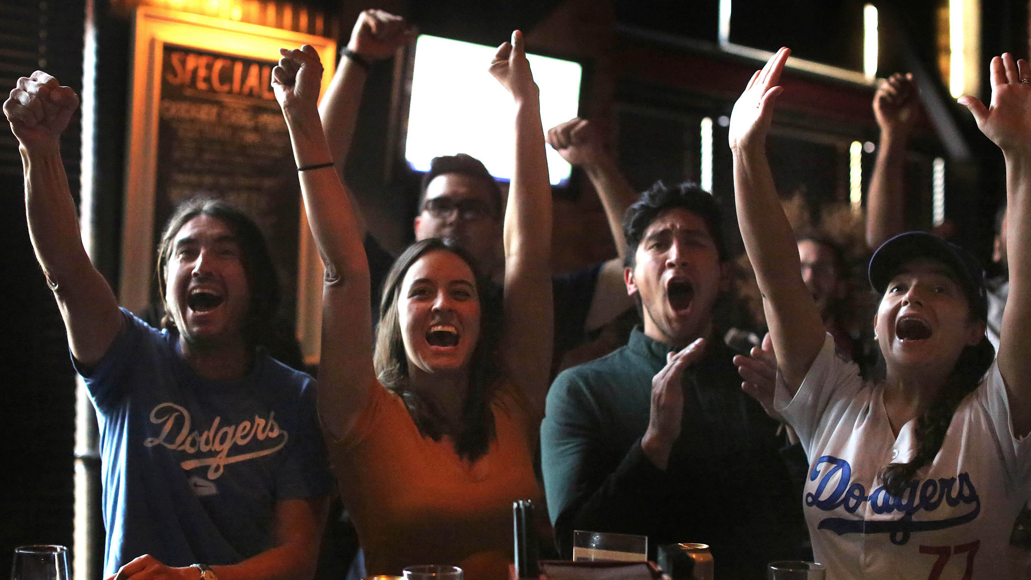 crying   beer dodgers give highland park fans  workout   win la times