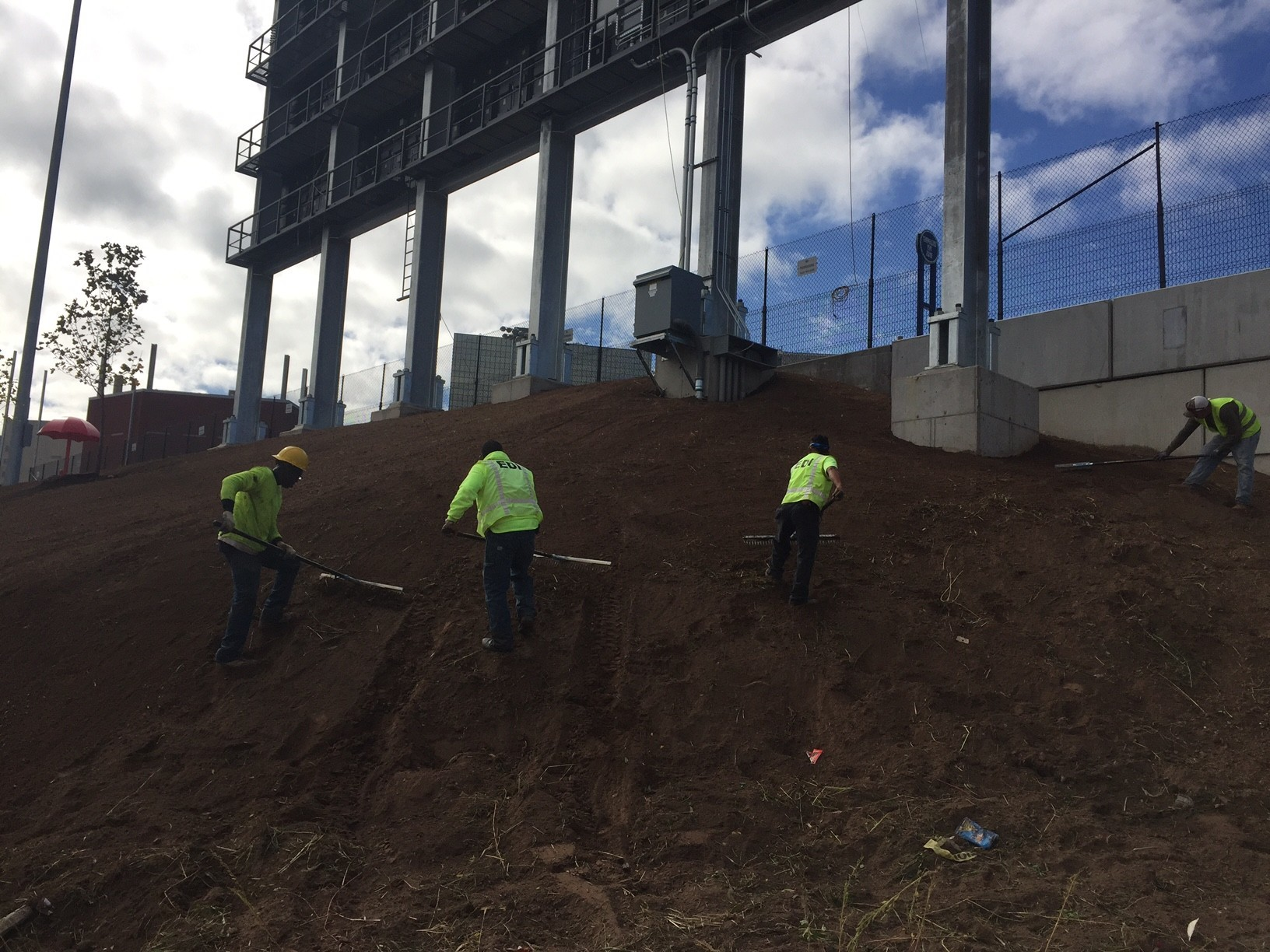 crews prepare for work to resume at dunkin donuts park courant community