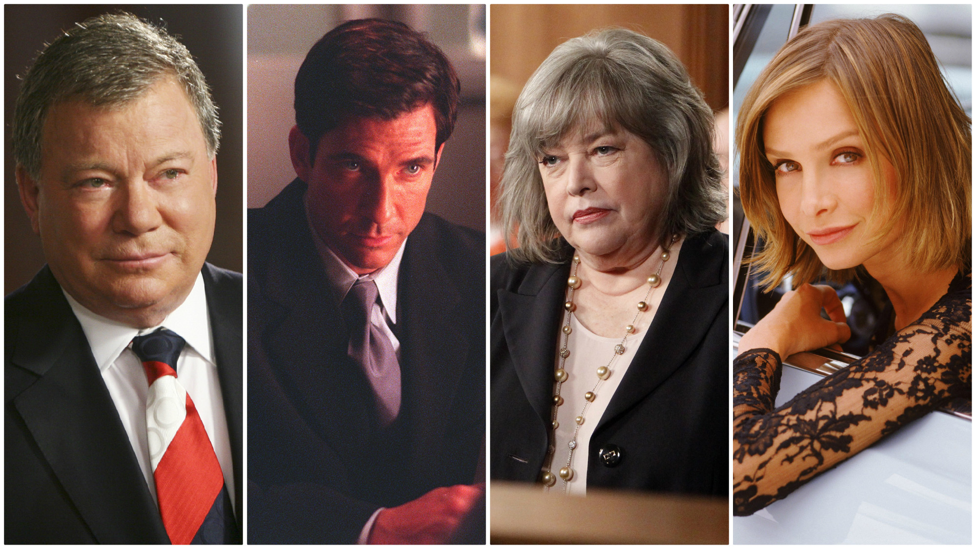 """From left: """"Boston Legal,"""" """"The Practice,"""" """"Harry's Law"""" and """"Ally McBeal."""""""