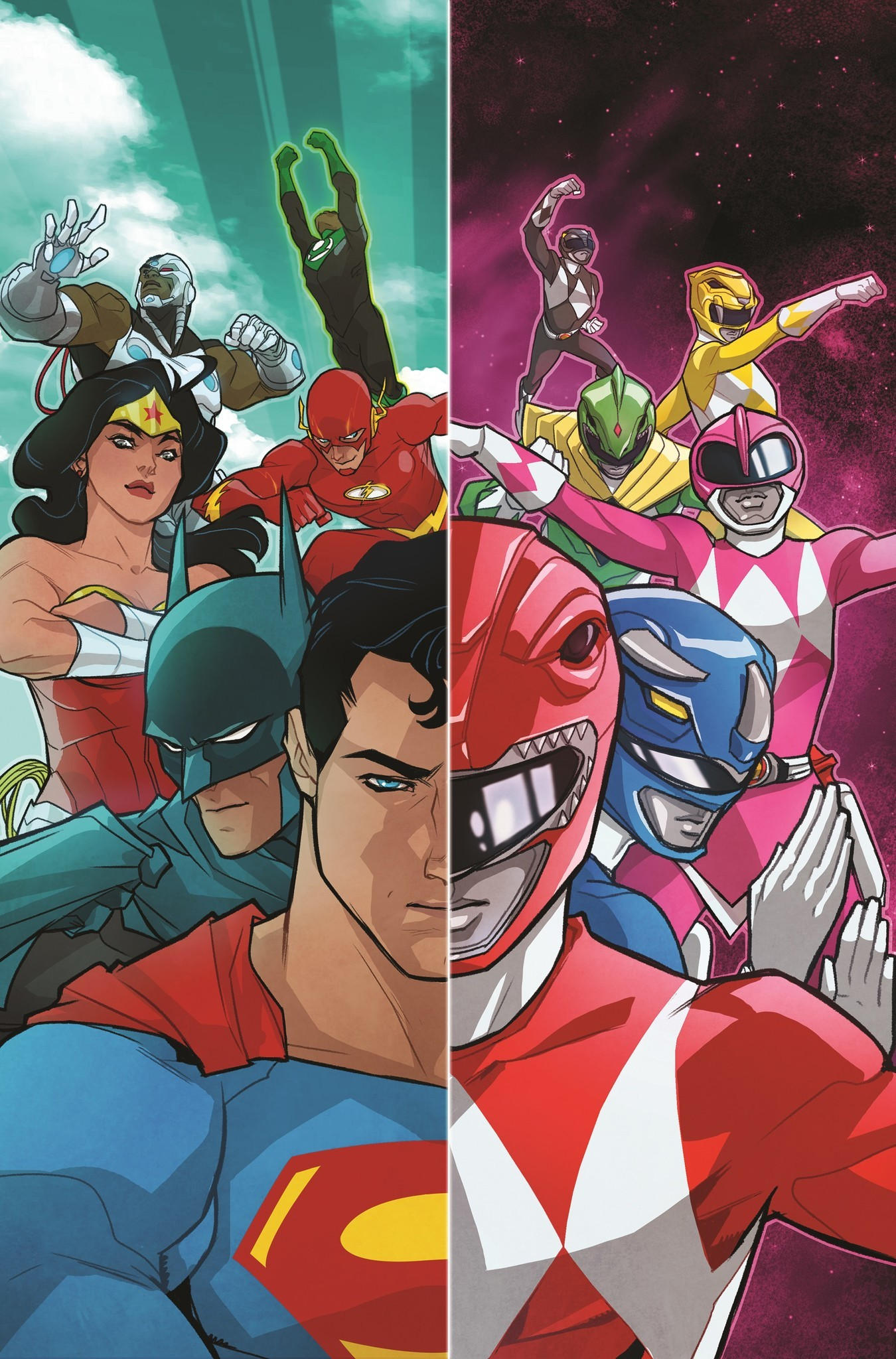A Justice League/Mighty Morphin Power Rangers crossover is on the way from DC and Boom! Studios.