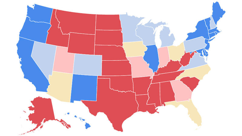 Weve updated our electoral map as Trumps fortunes dwindle  LA