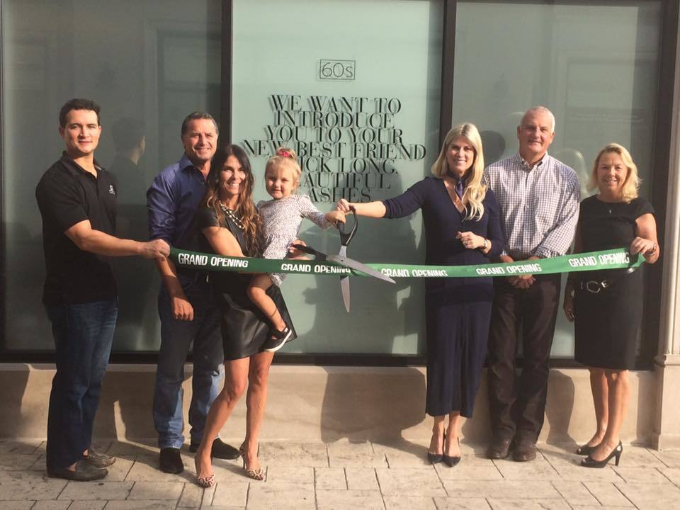 The 60's Beauty Lash celebrates 1st Anniversary in Winnetka with a Ribbon Cutting