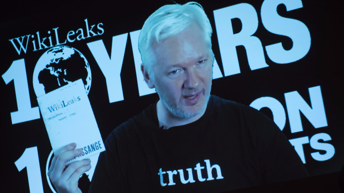 Julian Assange is the founder of WikiLeaks, which has published the private emails of Hillary Clinton's campaign chairman. (Steffi Loos / AFP/Getty Images)