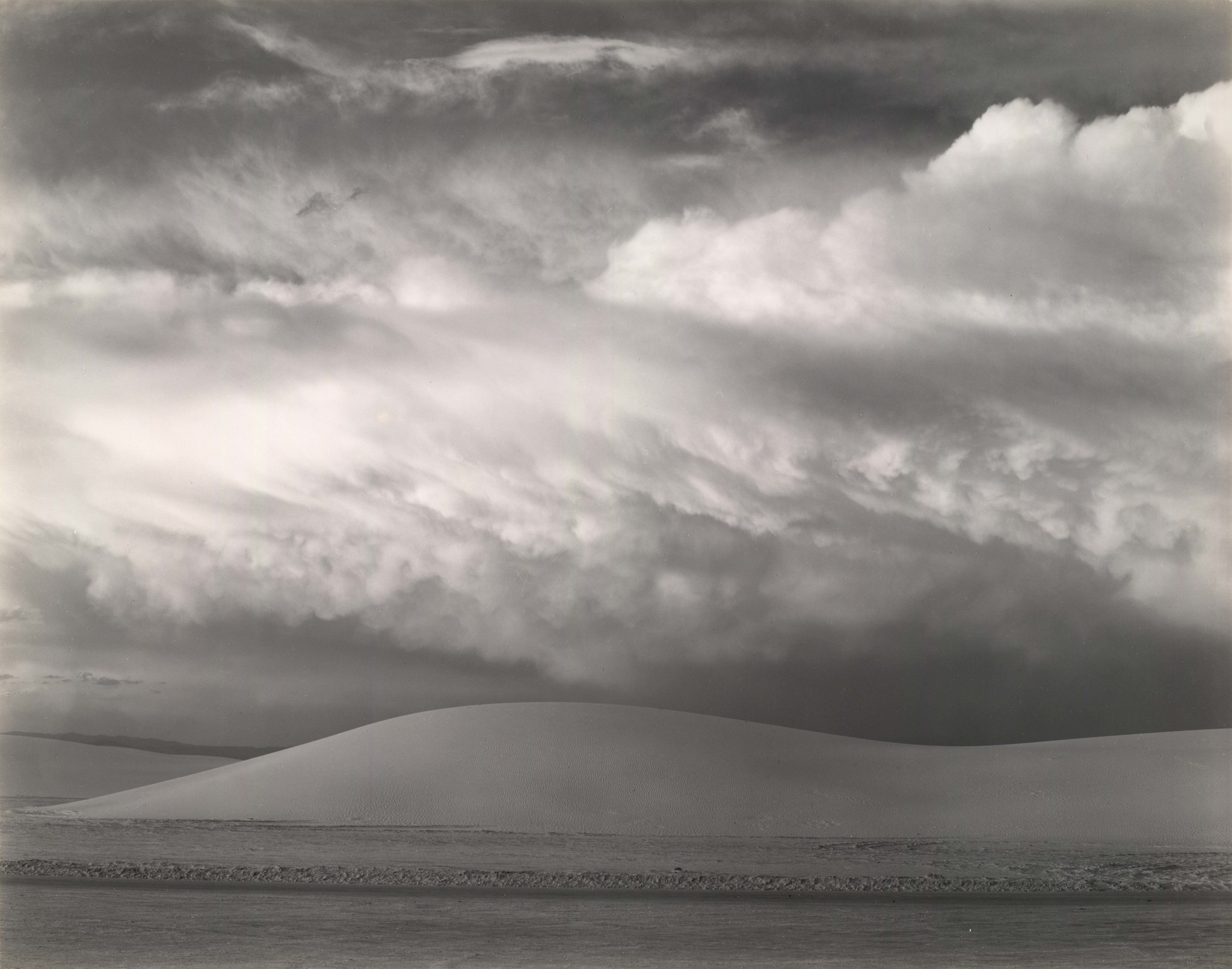 """White Sands, New Mexico,"" 1941, gelatin silver print."