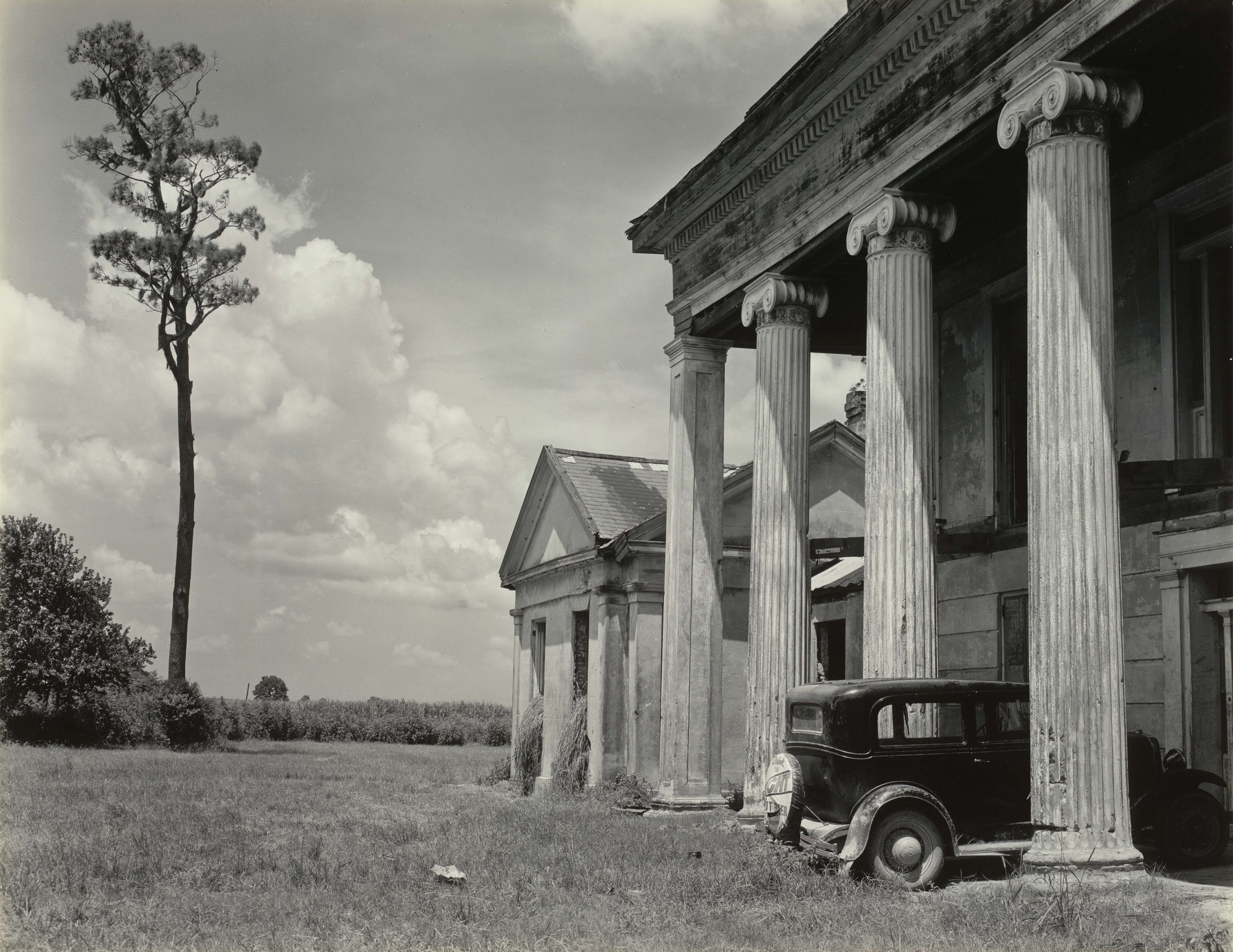 """Woodlawn Plantation House, Louisiana,"" 1941, gelatin silver print."