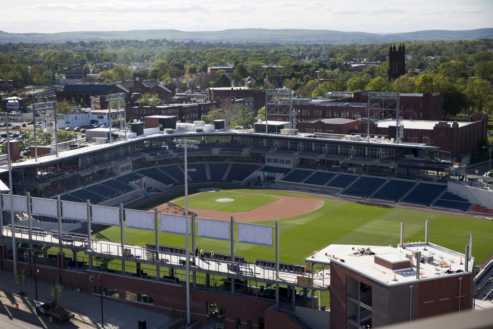 work resumes at dunkin donuts park hartford signs takeover agreement hartford courant