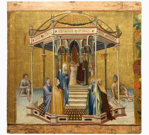 "Giovanni di Paolo, ""The Presentation in the Temple,"" 1427, temper and gold on panel."