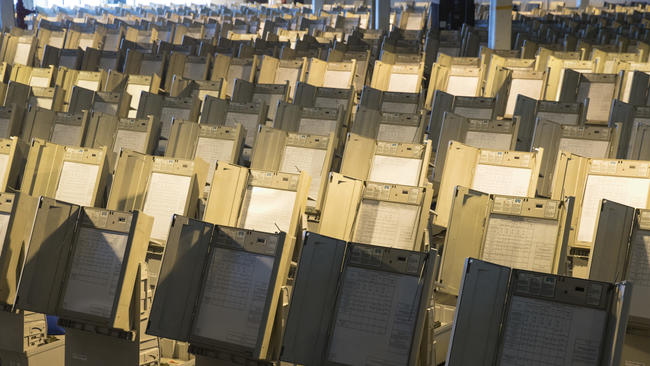 Are there still going to be voting machines with no paper trail in nov?