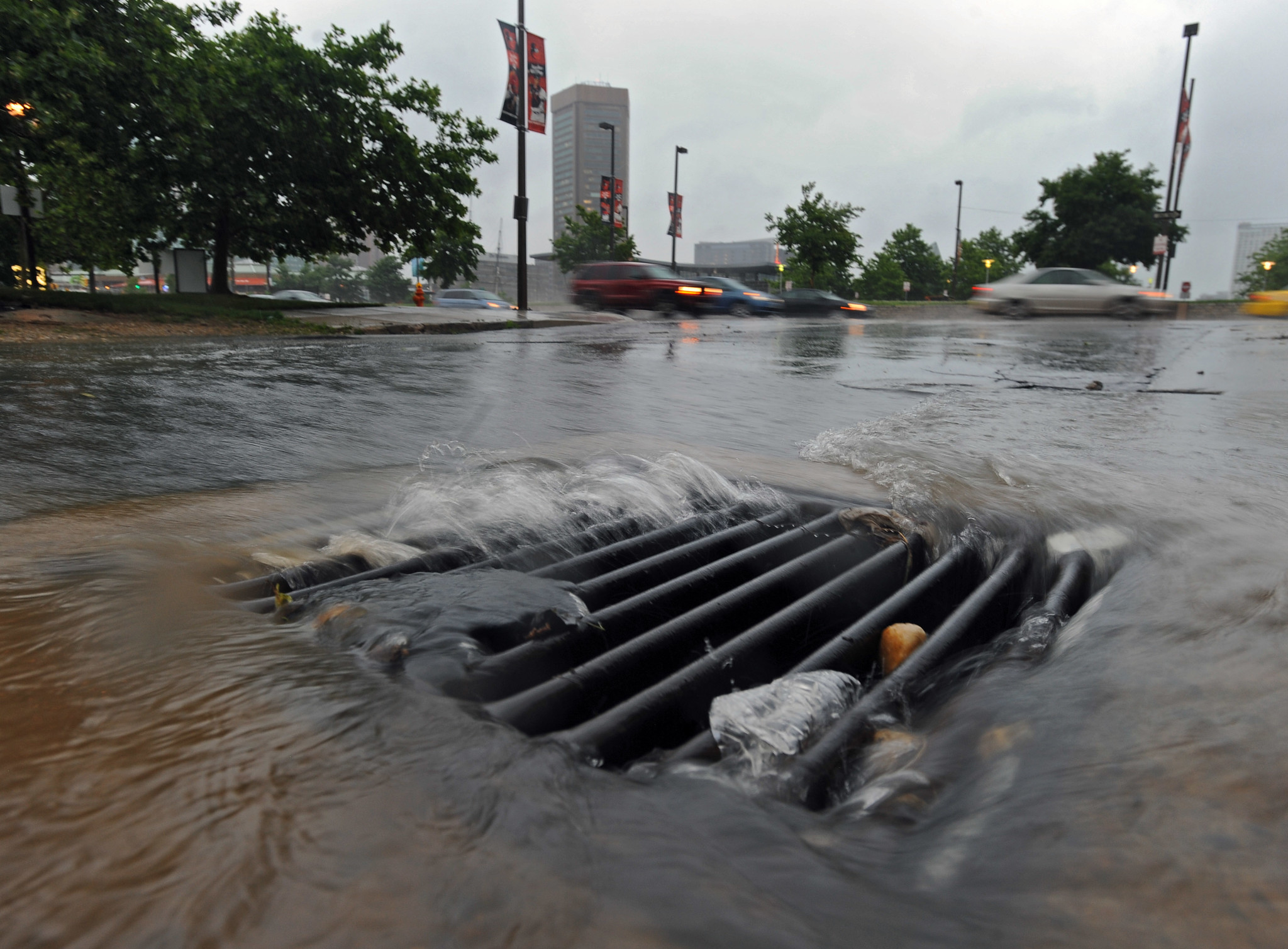 Stormwater Runoff Pollution : Counties plans to cut water pollution prove rain tax