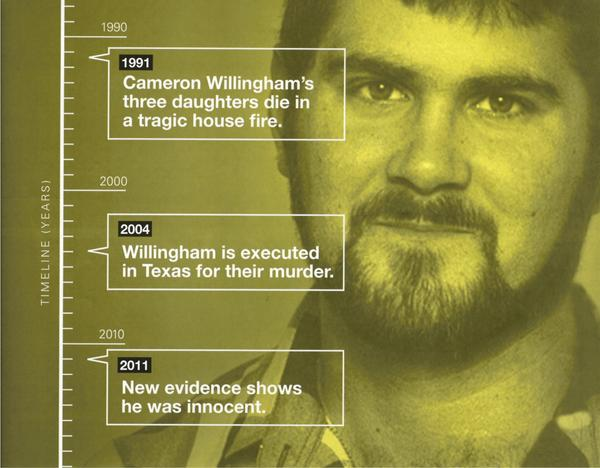 The No on 66 campaign used the case of Cameron Todd Willingham, a Texas man who was executed in 2004, to make its case.