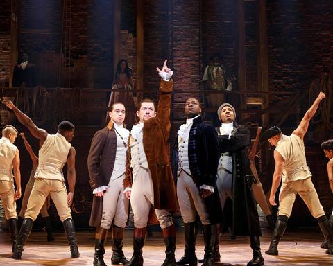 "The Chicago company of Lin-Manuel Miranda's musical ""Hamilton,"" opening Oct. 19 at the PrivateBank Theatre."
