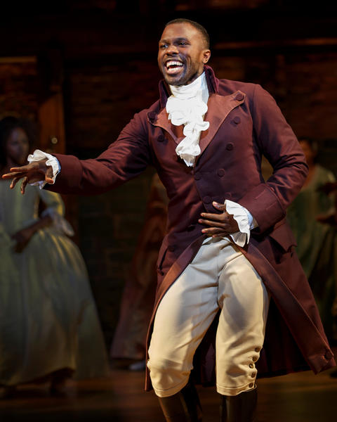 "Joshua Henry as Aaron Burr inLin-Manuel Miranda's musical ""Hamilton,"" opening Oct. 19 at the PrivateBank Theatre."