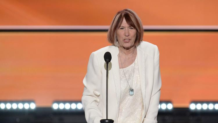 Patricia Smith, mother of Benghazi victim Sean Smith, addresses the Republican National Convention in July in Cleveland. (AFP/Getty Images)