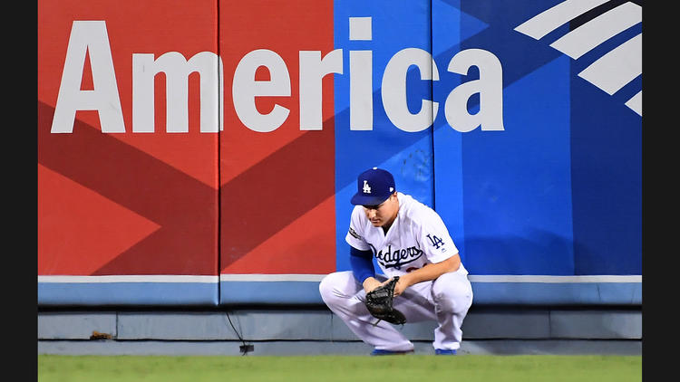 It wasn't a good night for Joc Pederson and the Dodgers. (Wally Skalij / Los Angeles Times)