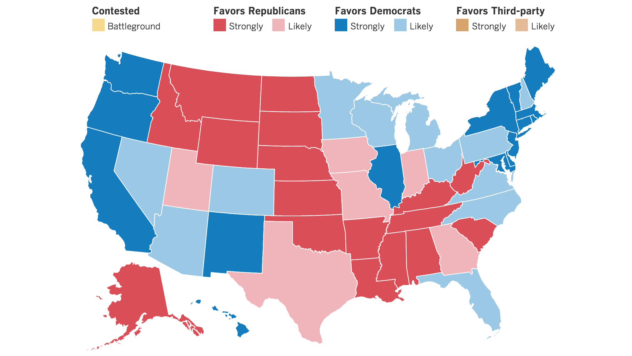 Weve Updated Our Electoral Map More States Move Away From Trump - Us states election map