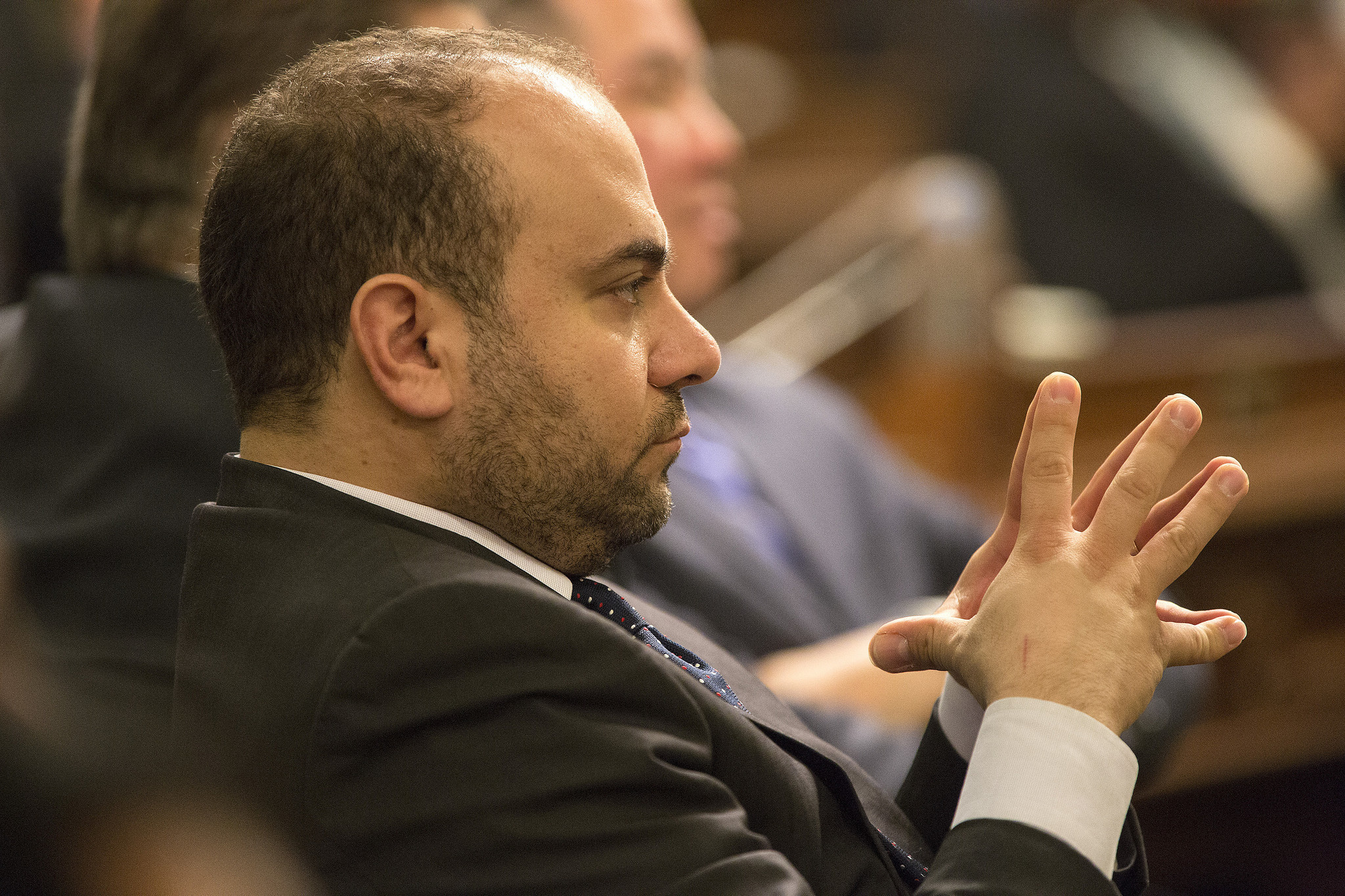 Assemblyman Adrin Nazarian during Gov. Jerry Brown's State of the State speech in Sacramento earlier this year. (Brian van der Brug / Los Angeles Times)