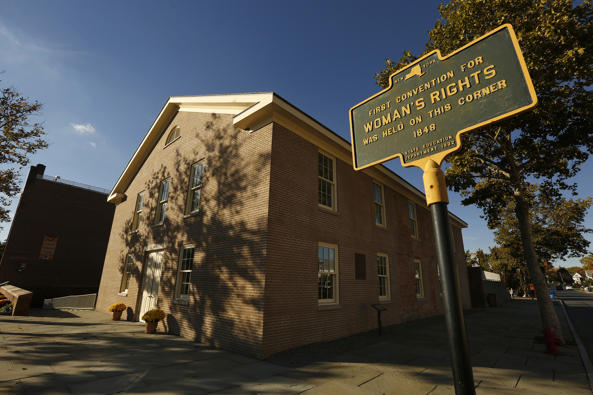 The first women's rights convention was held here at the Wesleyan Chapel in 1848, now part of the Women's Rights National Historic Park.