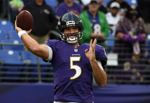 Ravens' Harbaugh says Flacco's return to practice is 'encouraging'