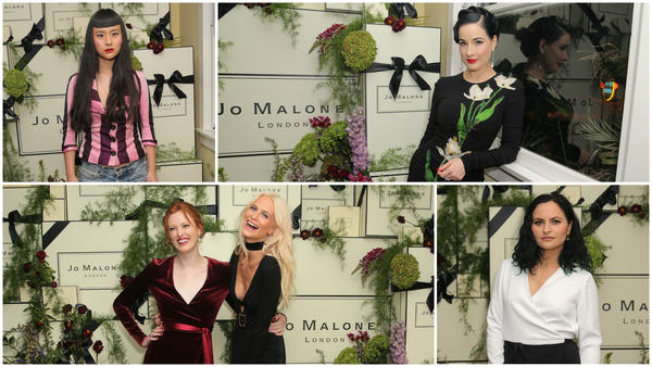 Dita Von Teese, Poppy Delevingne, Asia Chow attend Jo Malone London Girl party at Chateau Marmont