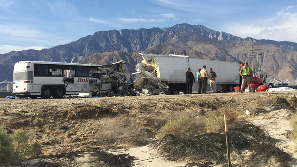 Tour bus in crash that killed 13 did not comply with safety standards, officials say