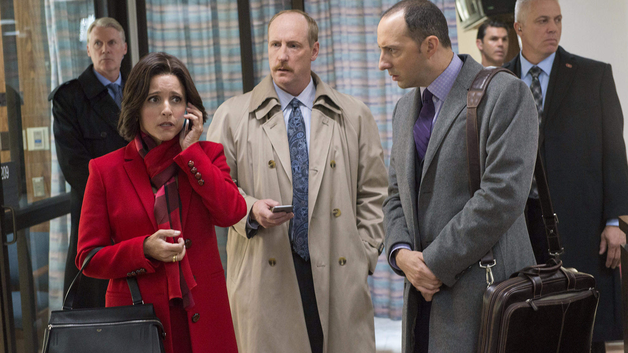 """Julia Louis-Dreyfus announced Wednesday that HBO's """"Veep"""" will end with Season 7 next year. (Lacey Terrell / HBO)"""