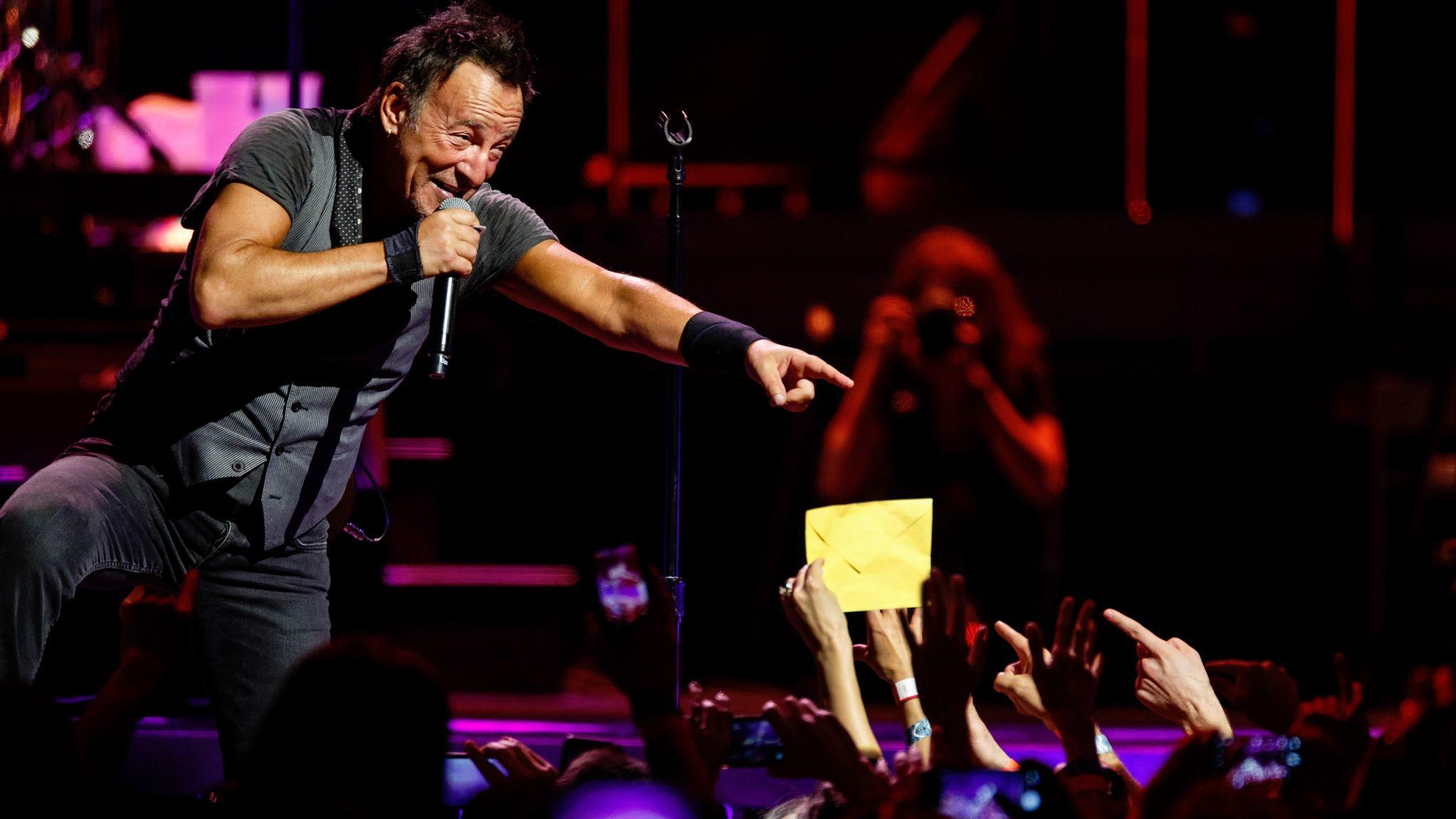 Bruce Springsteen announced Wednesday that he would make his Broadway debut in October. (Marcus Yam / Los Angeles Times)