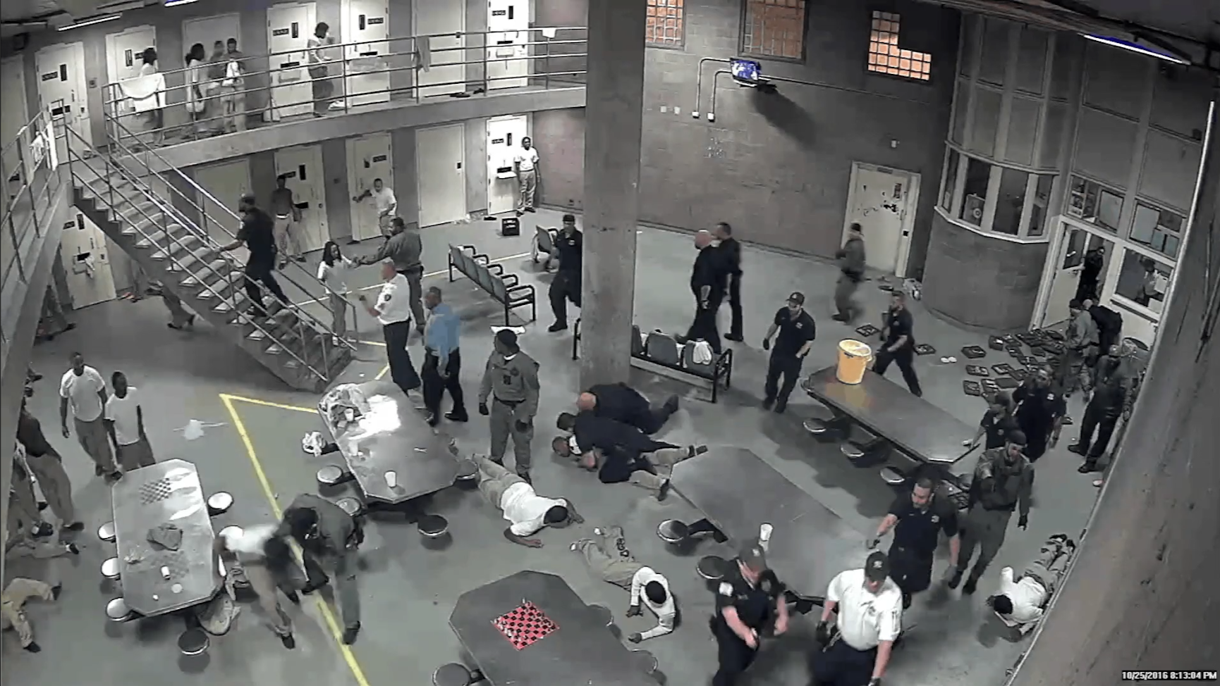 Surveillance video: Cook County Jail fight