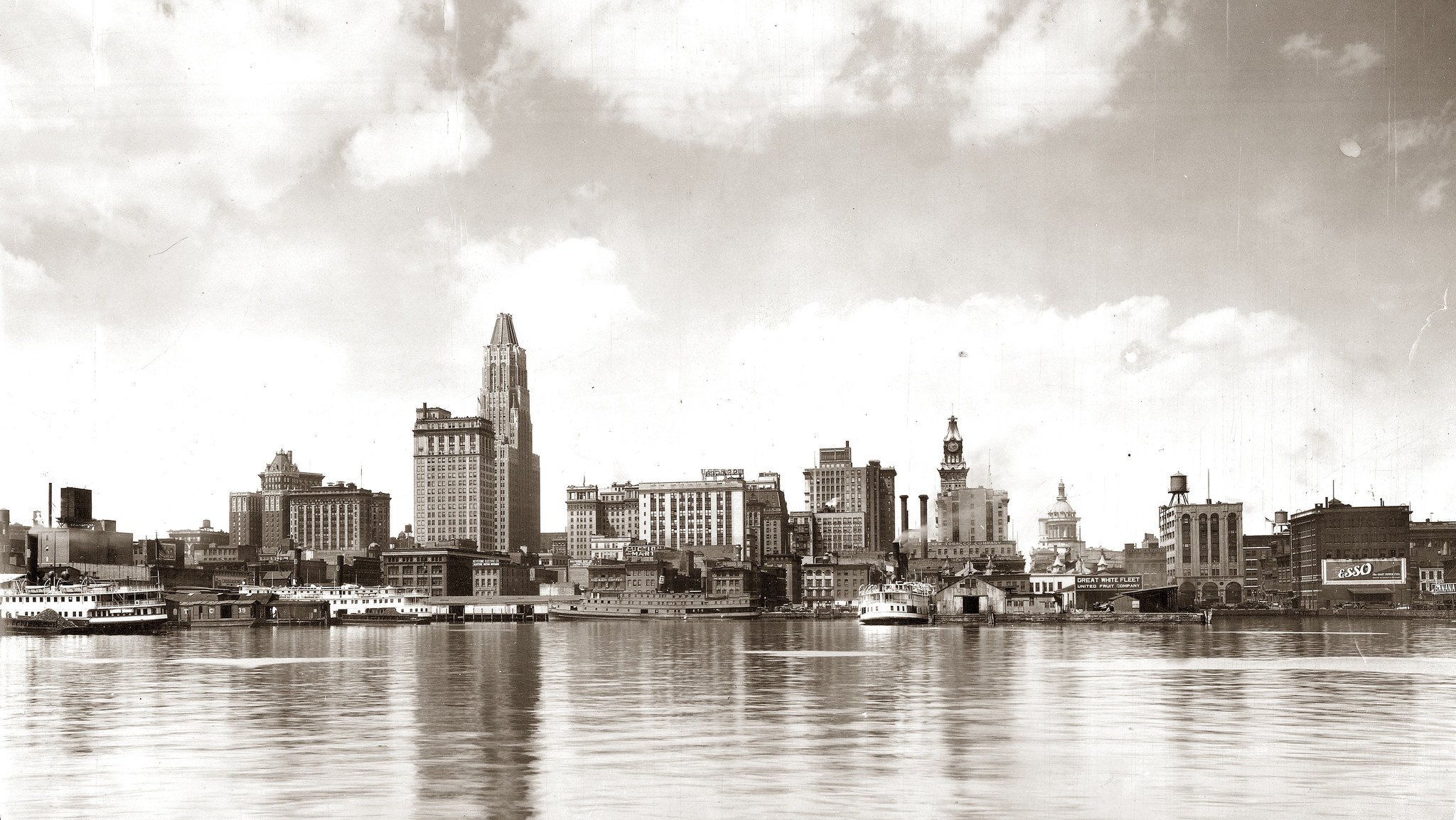 Baltimore skyline 1931