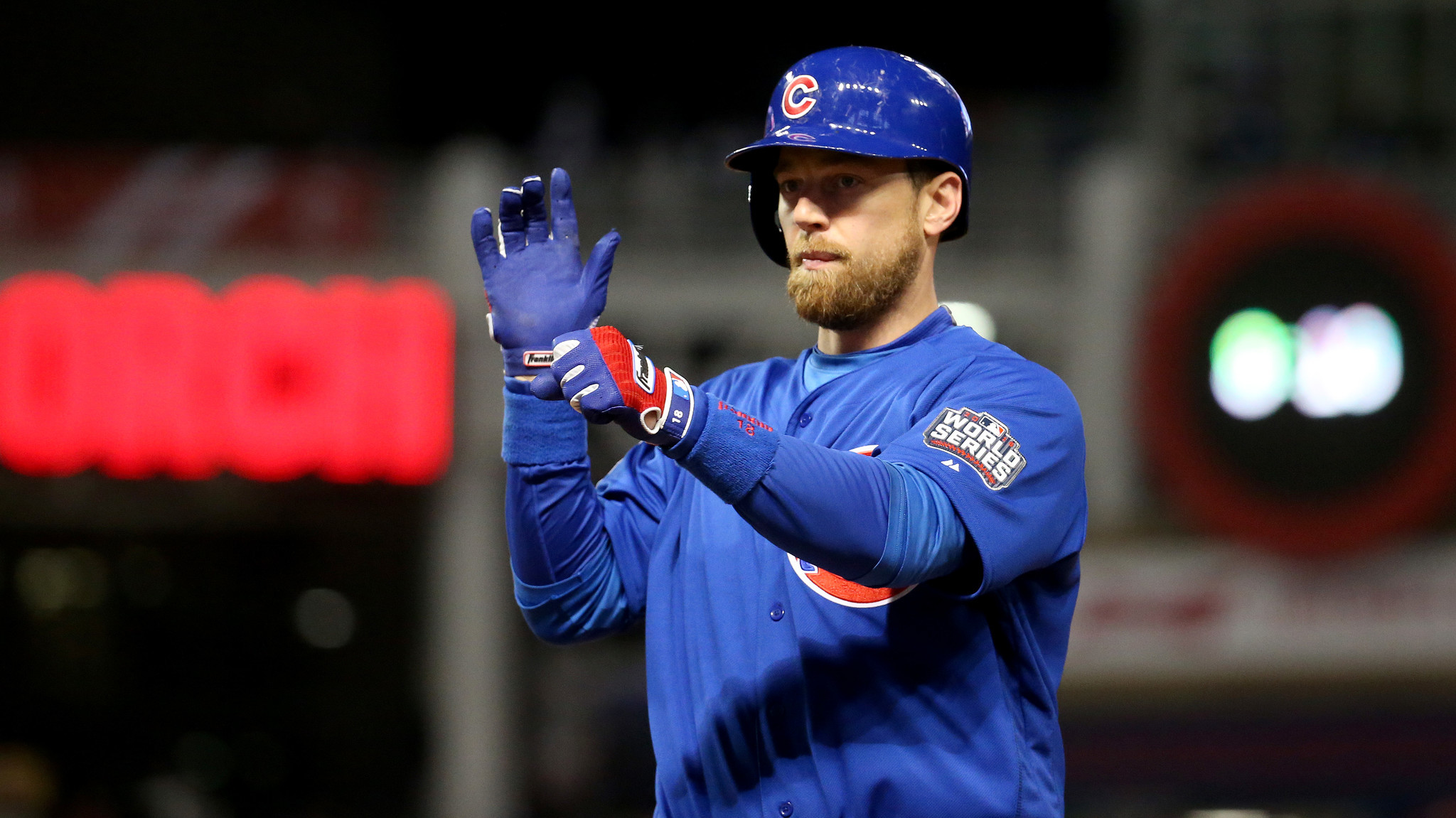 Zobrist already has 5 hits in the Fall Classic, two for extra bases