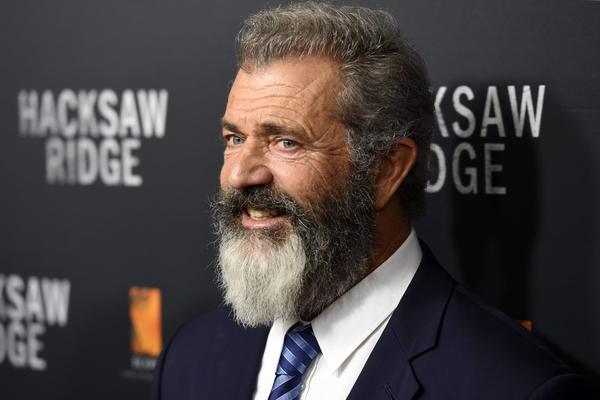 "Mel Gibson at the Australian premiere of his new film, ""Hacksaw Ridge."" (Paul Miller/EPA)"