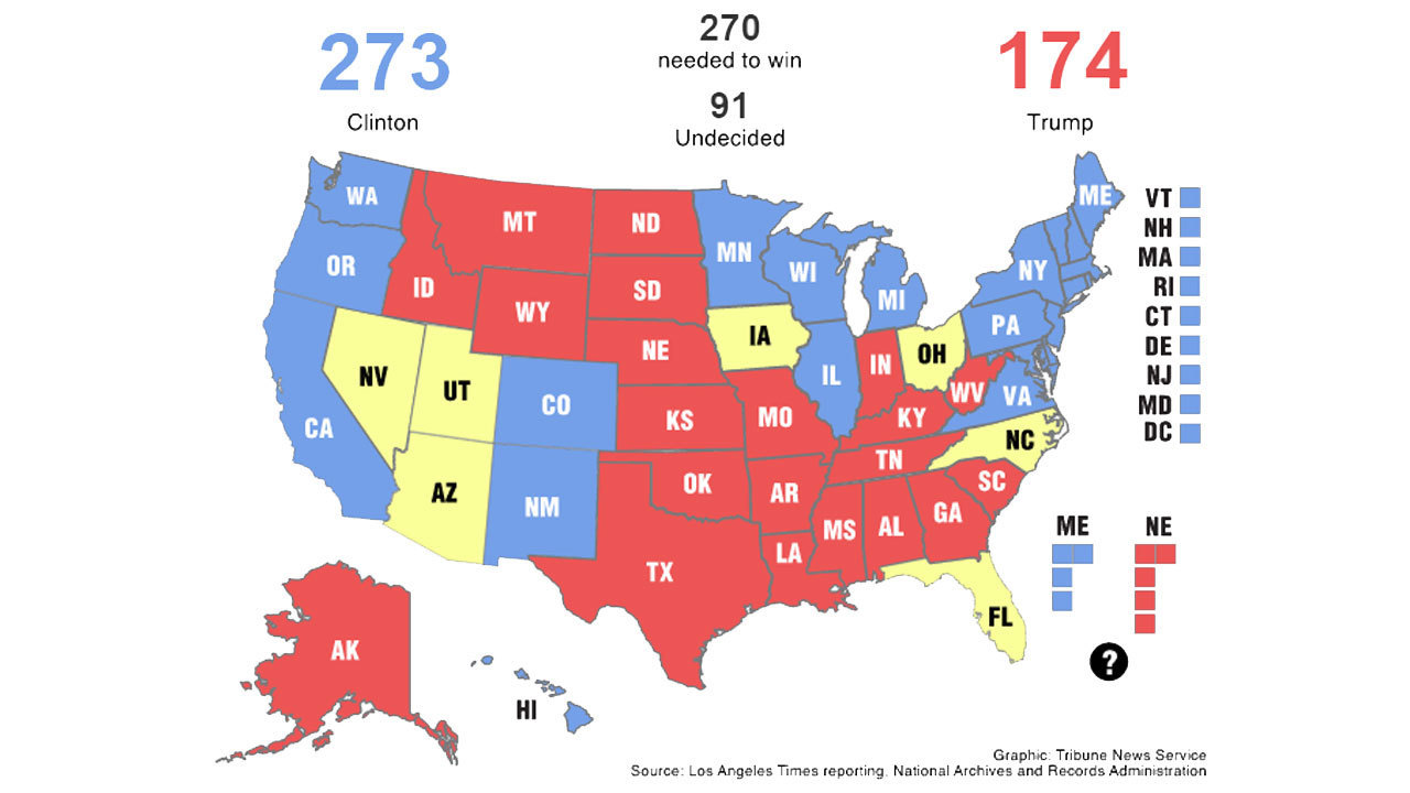 Interactive Make Your Own Electoral College Map The Morning Call - Us electoral map interactive