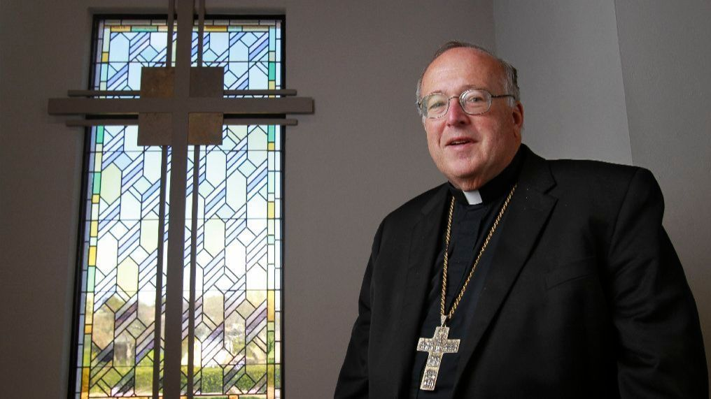 Bishop Robert McElroy is shown at the Pastoral Center Roman Catholic Diocese of San Diego.