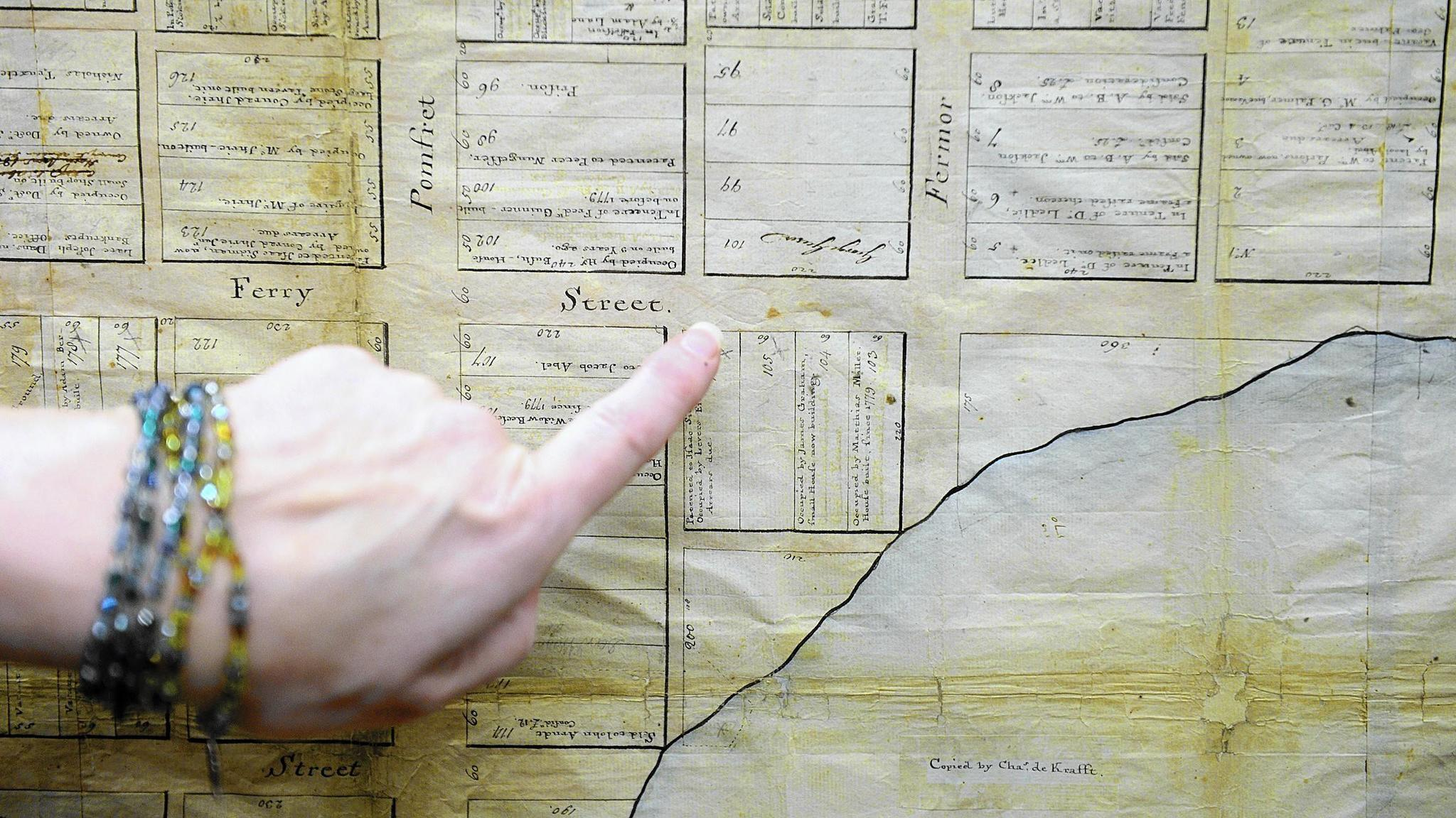 Oldest known Easton map finds home at library The Morning Call