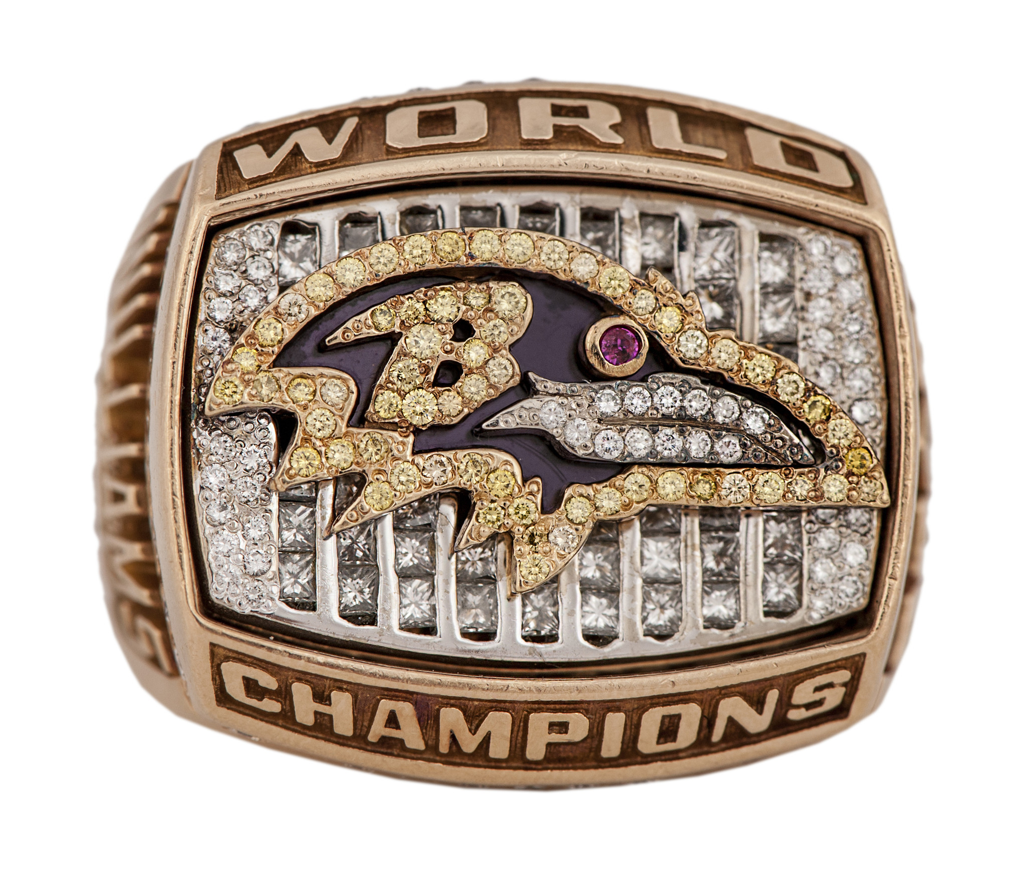 sells for story business sun auction at rings bs ring bz super nfl ravens bowl baltimore