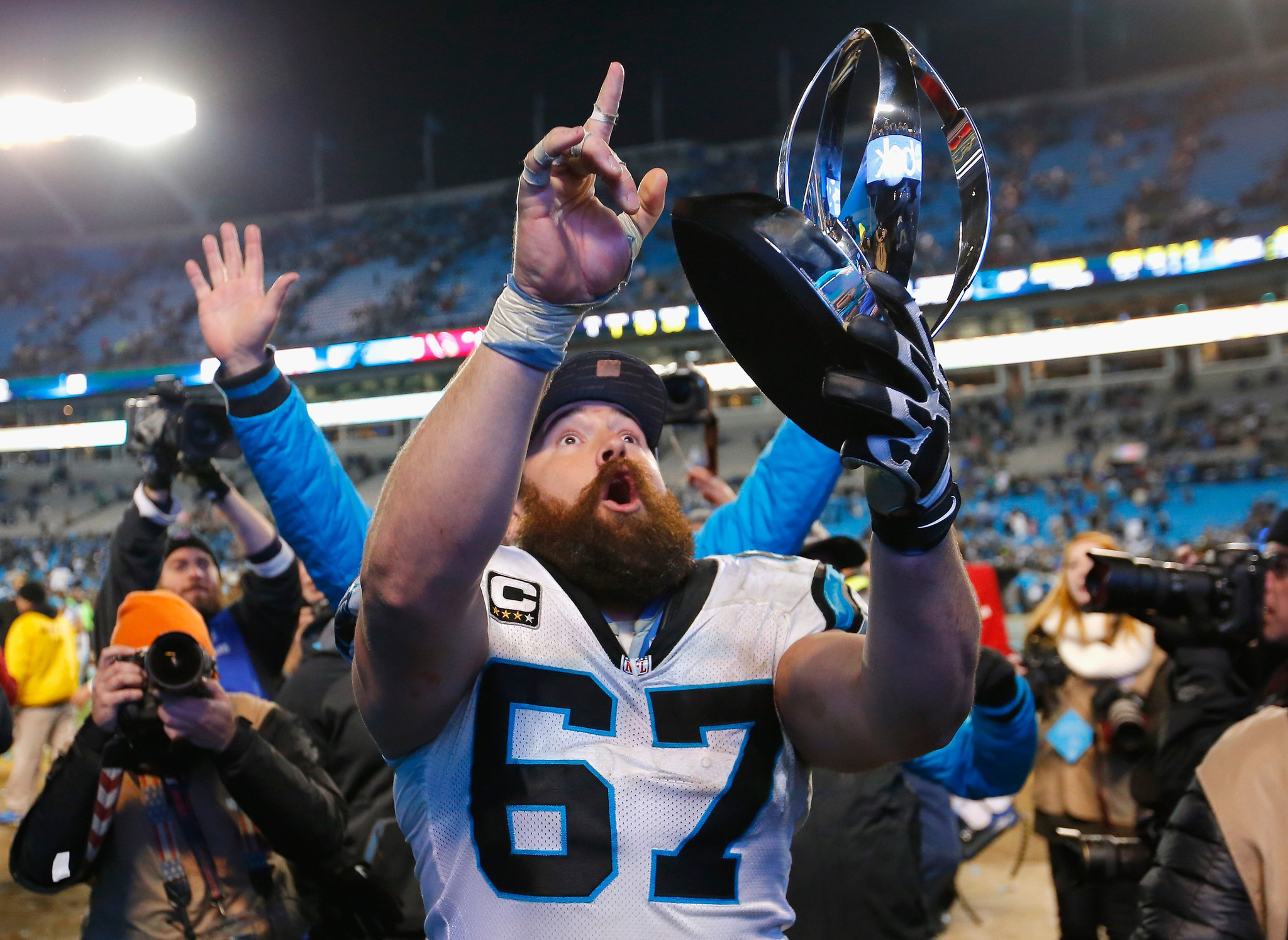 Panthers center and former Trojan Ryan Kalil is ing home to