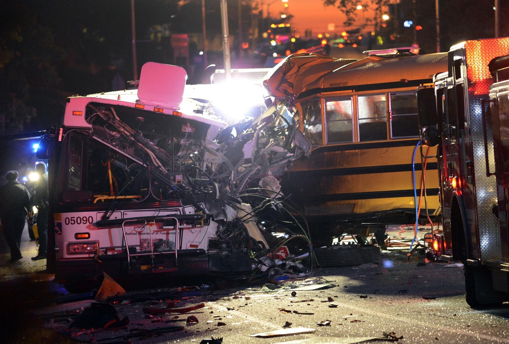Both bus drivers among 6 killed in 2-bus Baltimore crash - Chicago ...