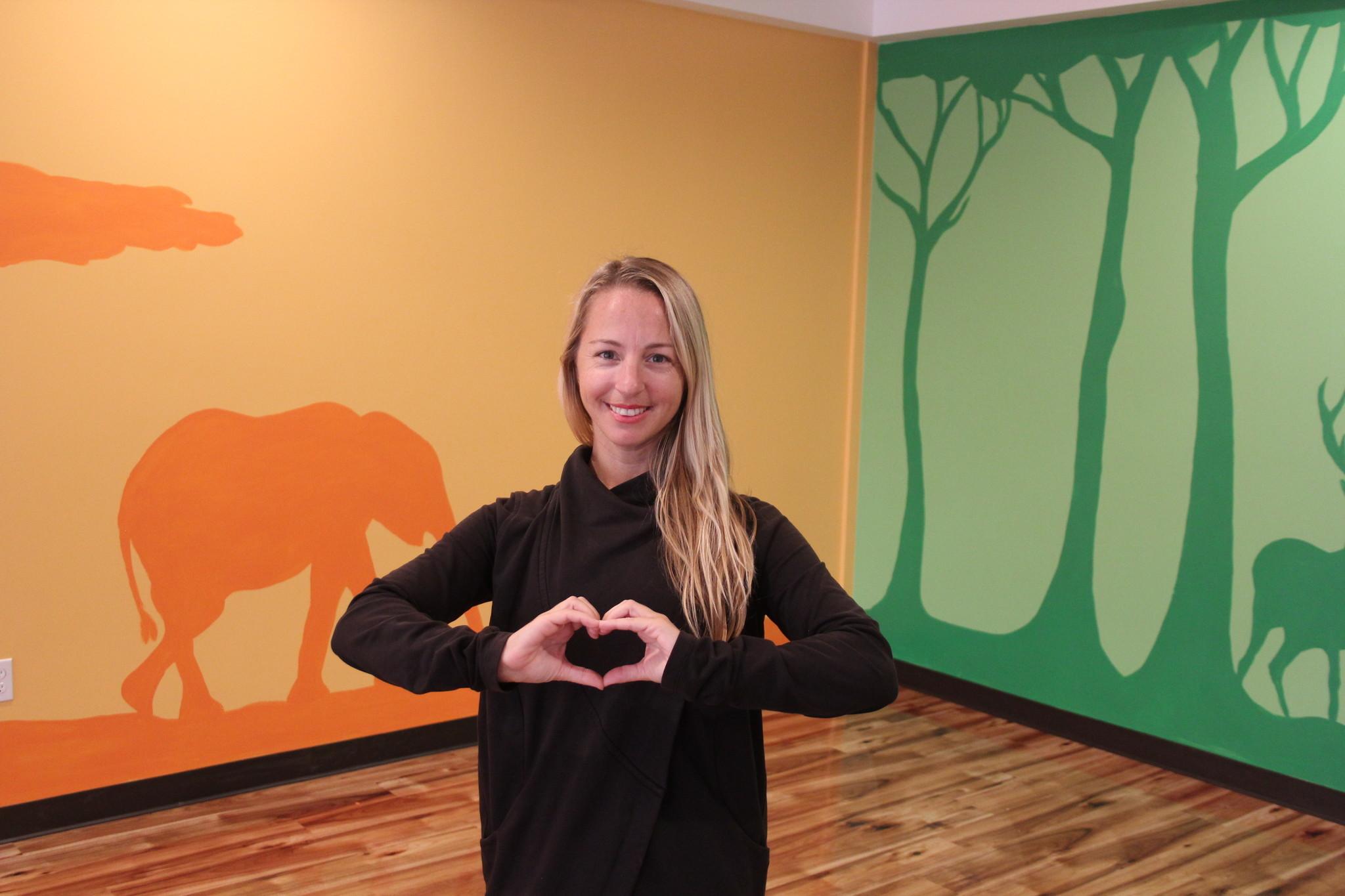 Tiffany Gullberg in the new Flower Hill studio.