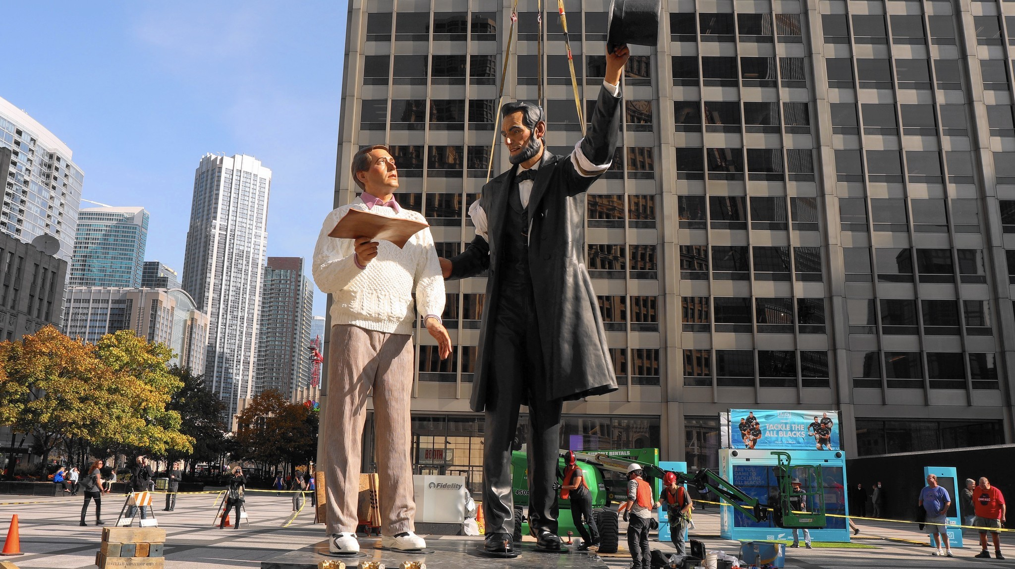 Honest Abe Makes Stop In Chicago In Time For Presidential