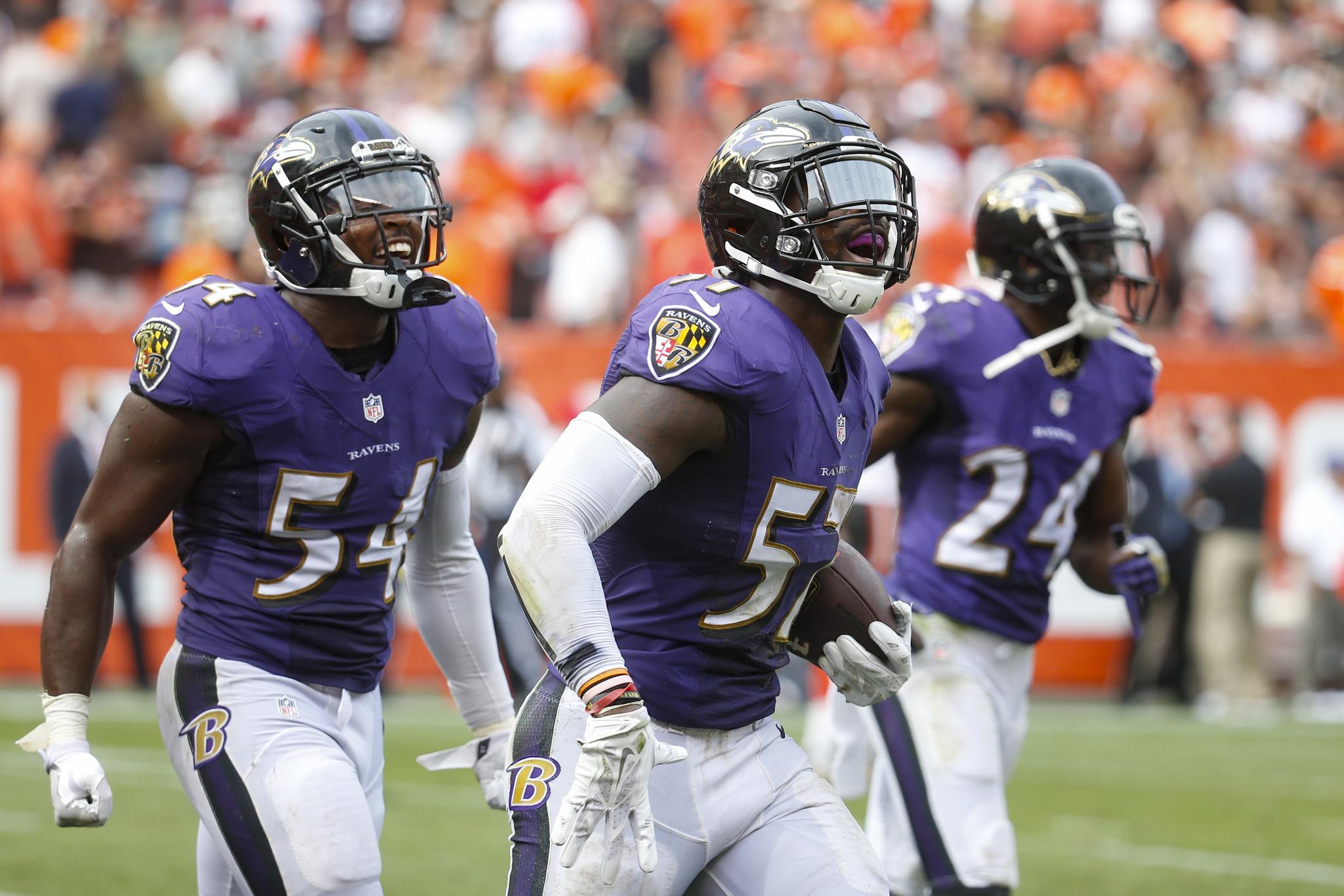 C J Mosley Terrell Suggs Lardarius Webb among Ravens back at