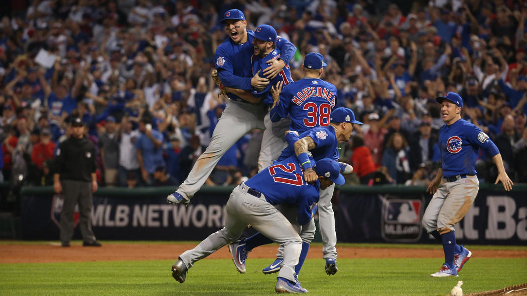 Image result for cubs win the world series