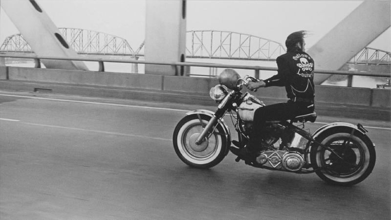 """Crossing the Ohio,"" 1966, by Danny Lyon, at Kopeikin Gallery."