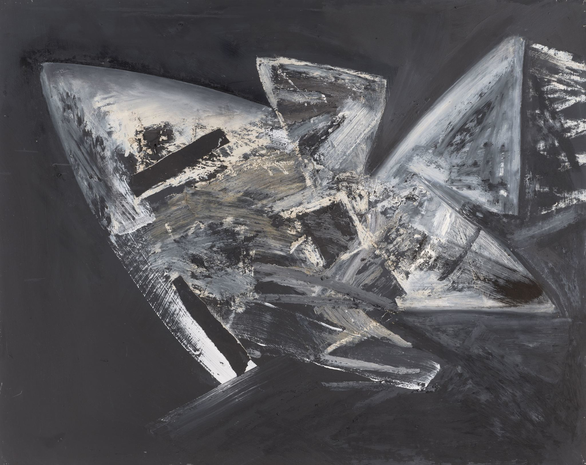 """Untitled (Samurai series),"" 1986, by Jay DeFeo, on view at Marc Selwyn in Beverly Hills."