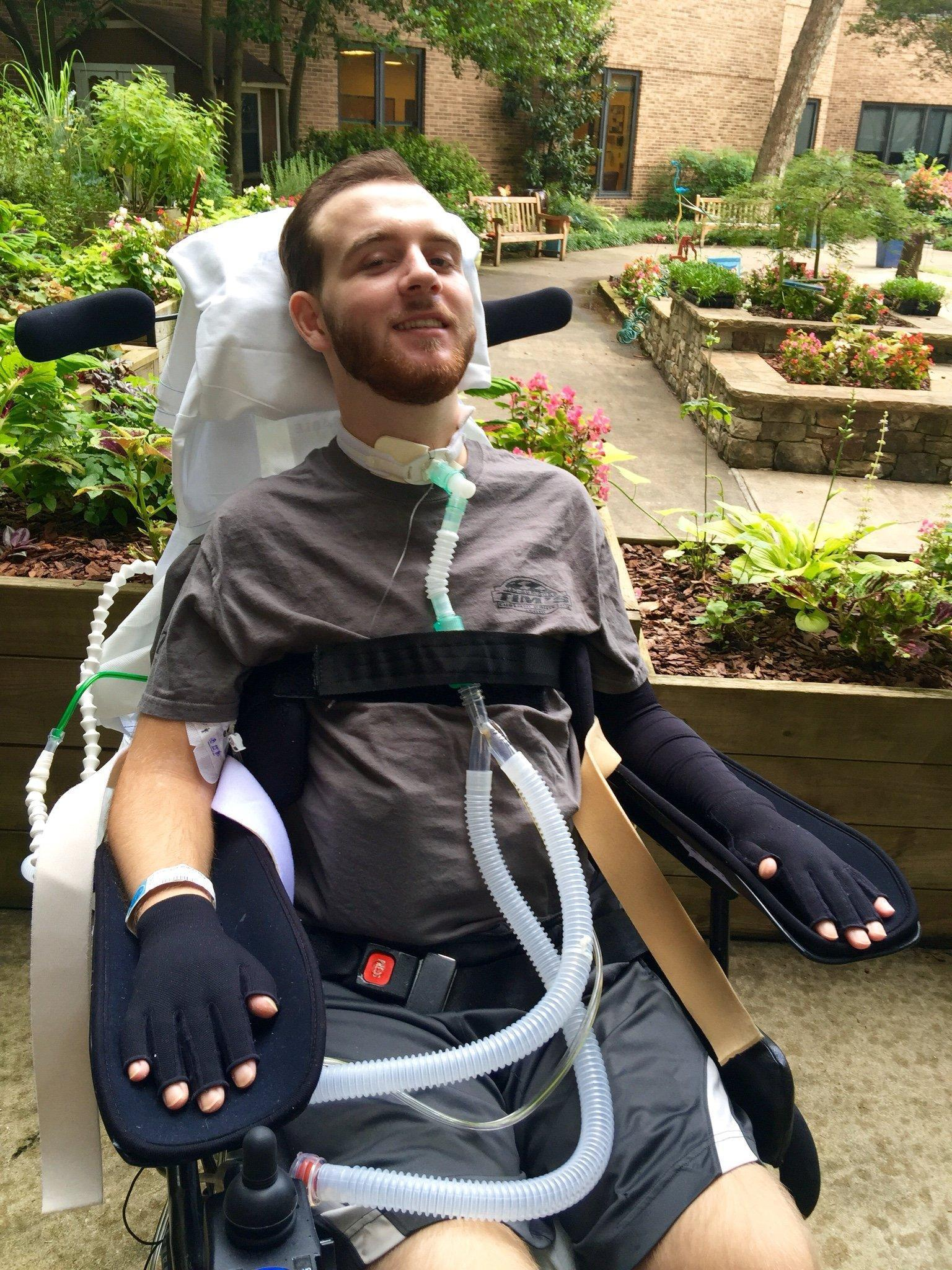 Bravery of teen paralysed after breaking neck diving into