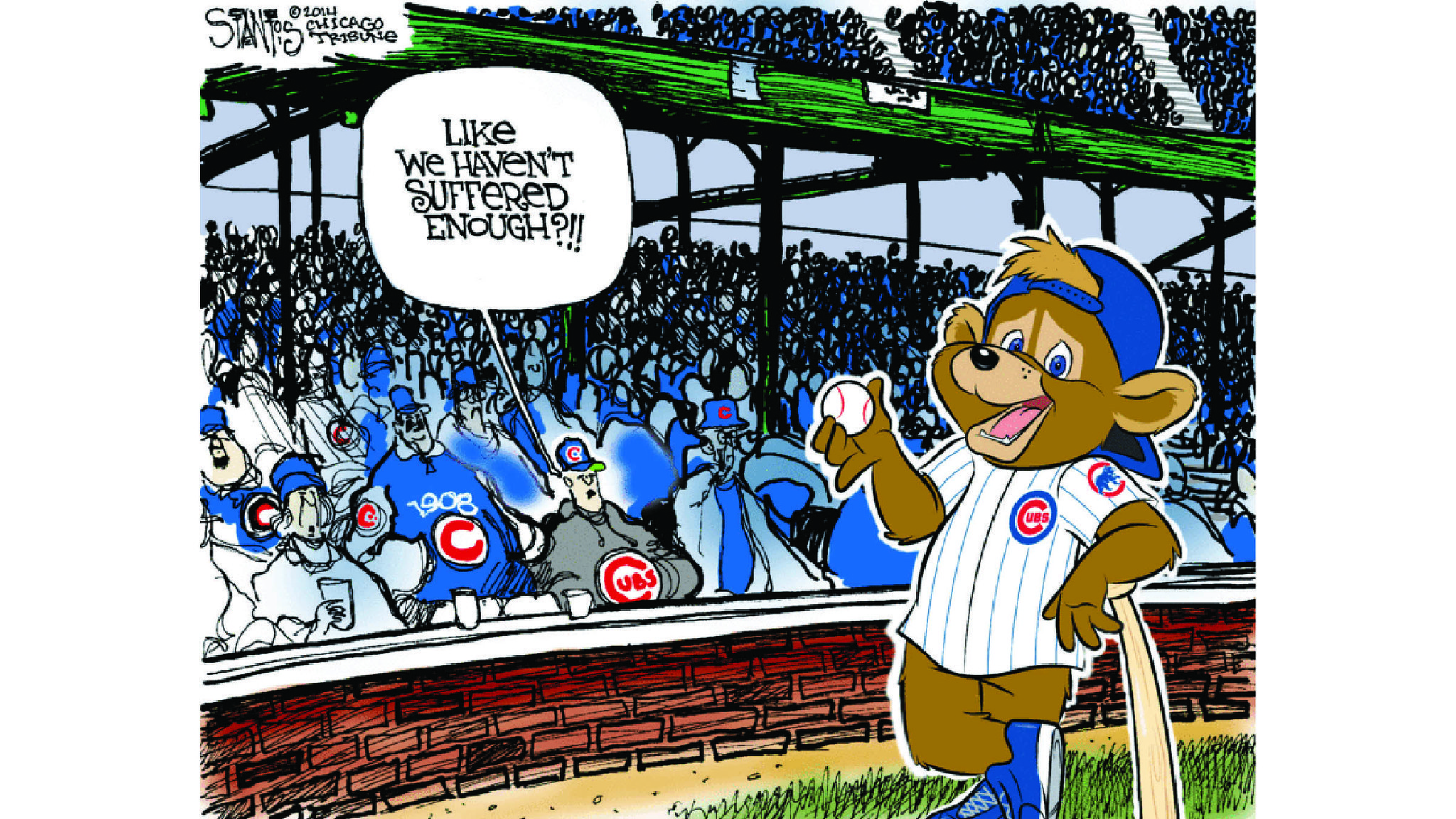 Cubs Cartoon Gallery Chicago Tribune
