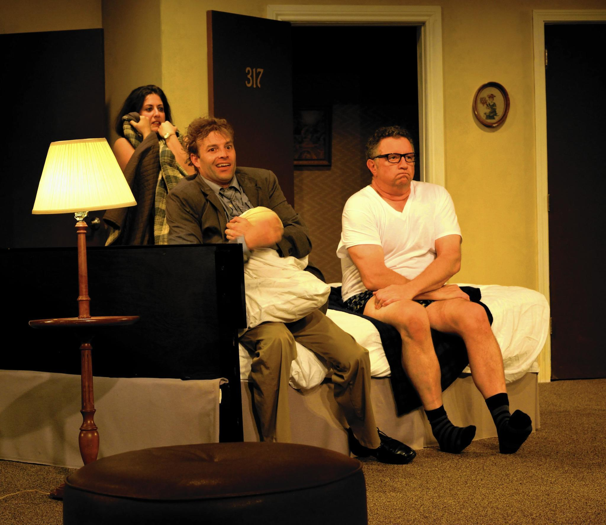 Unnecessary farce does bed flips at playhouse on park for Farcical comedy