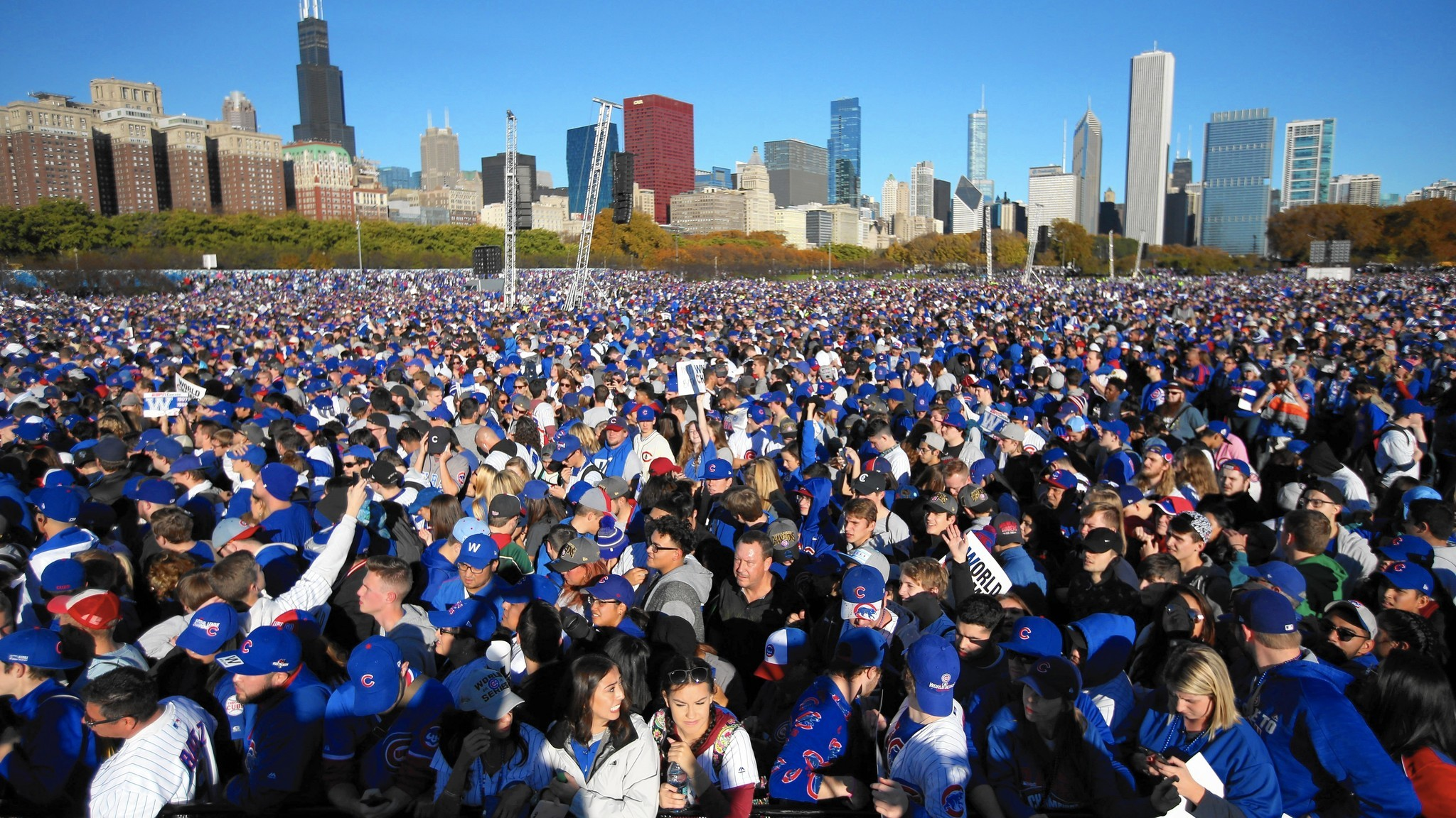 5 million at the Cubs rally and parade I dont think so Chicago
