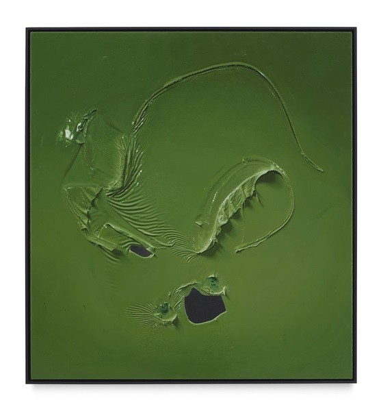 "Paul Sietsema, ""Green painting,"" 2016, enamel on linen."